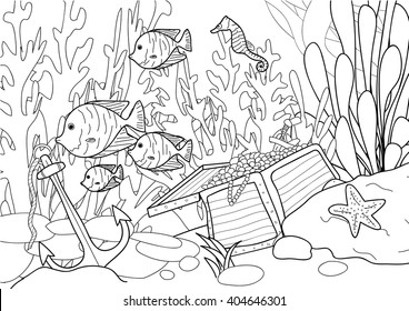 coloring page adult treasure under 260nw