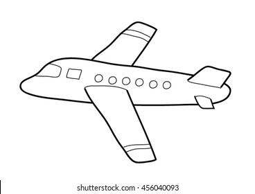 Coloring page - Airplane
