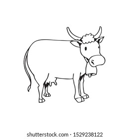 coloring page of a animal farm