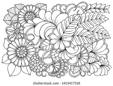 Mandala Adult Coloring Pages Images, Stock Photos & Vectors ...