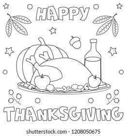Thanksgiving Coloring Images Stock Photos Vectors Shutterstock