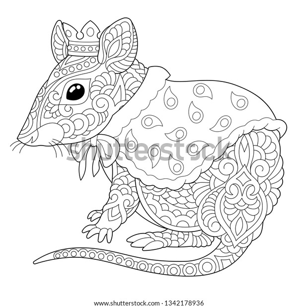 Chinese Zodiac Animals Coloring Pages | Chinese Zodiac animal - Ox ... | 620x600