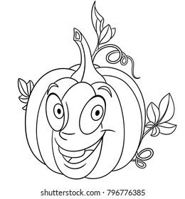 coloring page book cartoon pumpkin 260nw
