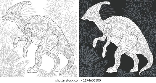 coloring page book dinosaur collection 260nw