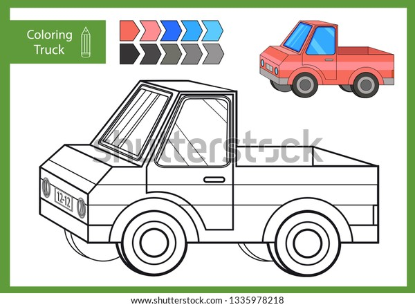 Coloring Page Book Drawing Worksheets Car Stock Vector (Royalty Free)  1335978218