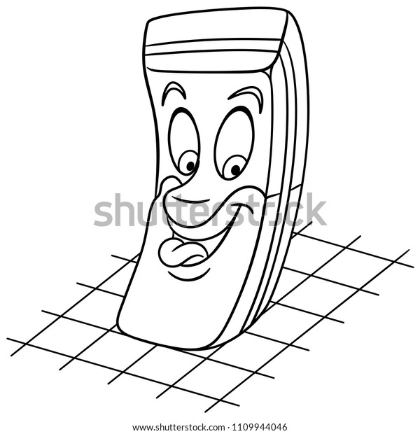 coloring page coloring book rubber eraser stock vector royalty free 1109944046 https www shutterstock com image vector coloring page book rubber eraser happy 1109944046