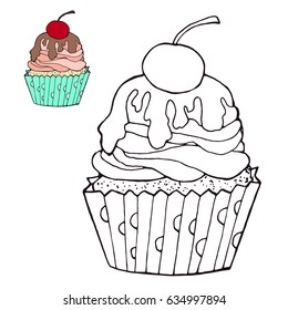 coloring page cake color version 260nw