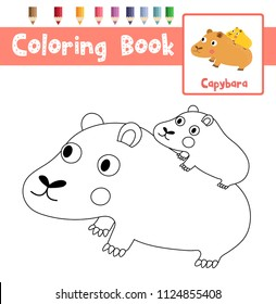 coloring pages capybara as pets - photo#38