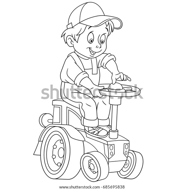 5500 Top Cartoon Tractor Coloring Pages  Images