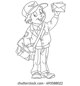 Postman images stock photos vectors shutterstock for Mailman coloring pages