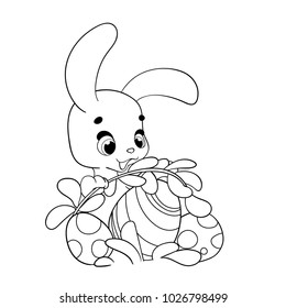 coloring page cartoon easter bunny 260nw