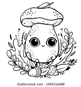 Kawaii Coloring Book High Res Stock Images Shutterstock