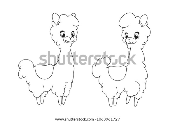 Llama Animals Coloring Pages coloring page & book for kids. | 420x600