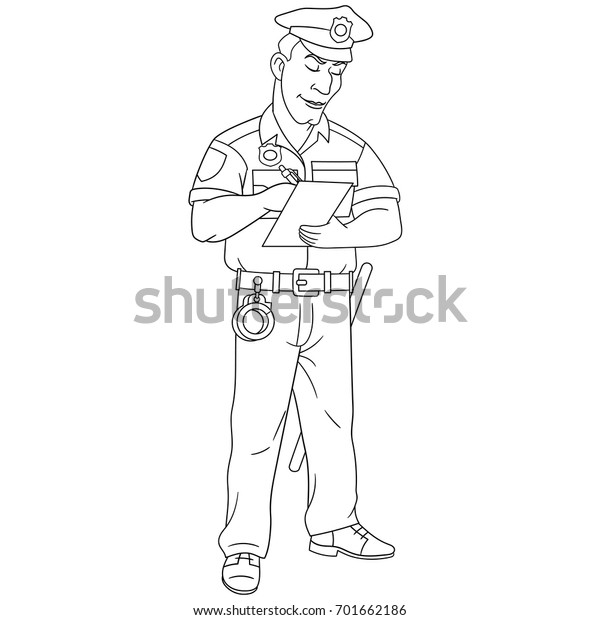 Free Printable Police Women Coloring Pages | Police crafts ... | 620x600