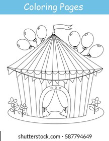 Circus Coloring Pages Images Stock Photos Vectors Shutterstock