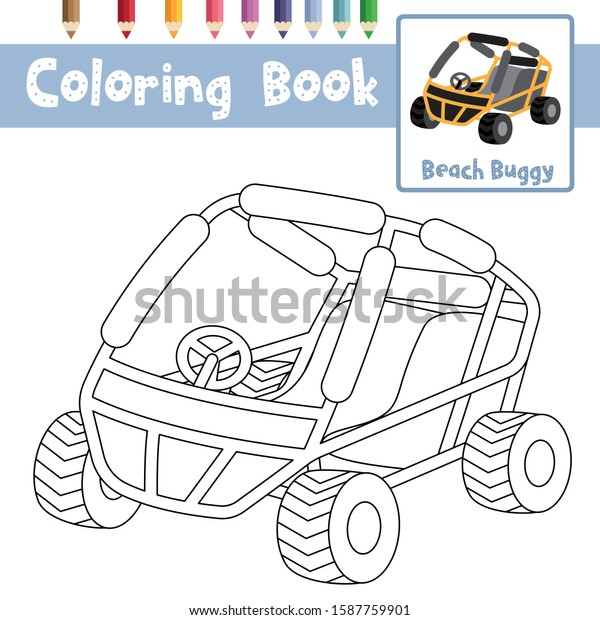 - Coloring Page Cute Beach Buggy Cartoon Stock Vector (Royalty Free)  1587759901