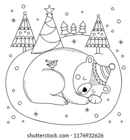 Fun Facts about Polar Bears Free Hand-drawn Printable Coloring ... | 280x260