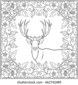 Deer Coloring Pages Images Stock Photos Vectors Shutterstock