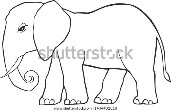 Free Printable Elephant Coloring Pages - Kids-AusmalbilderTV | 392x600