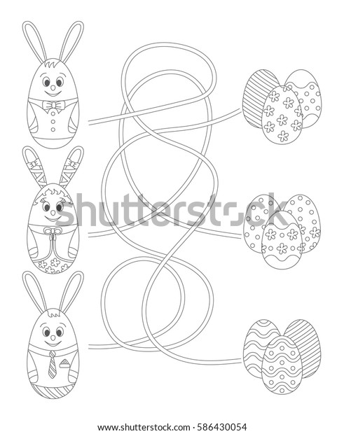 Print out easter mazes puzzles lamb to find the eggs worksheet ... | 620x491