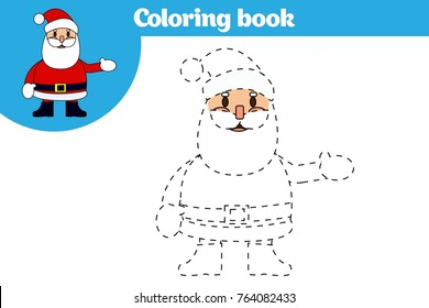 Coloring page, education game for children. Coloring page, drawing kids activity. Vector illustration.