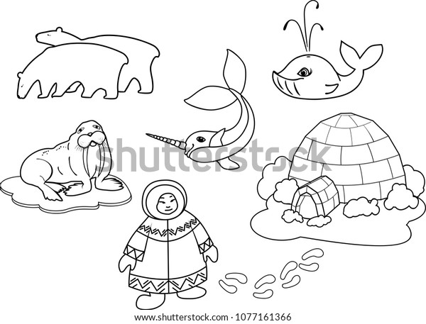 Igloo Place Where Eskimo Take Shelter Coloring Pages : Bulk Color ...   457x600