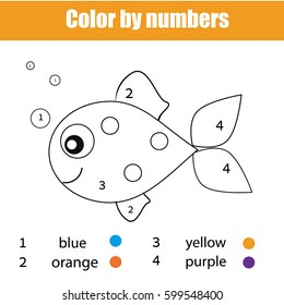 coloring page fish character color 260nw