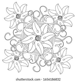 Vintage Flower Coloring Pages Images Stock Photos Vectors Shutterstock