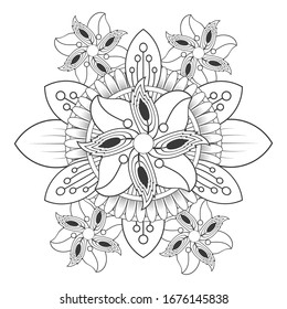 Beautiful Roses And Heart Coloring Page For Kids Flower Beautiful ... | 280x260