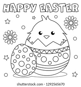 Easter Coloring Pages Images Stock Photos Vectors Shutterstock