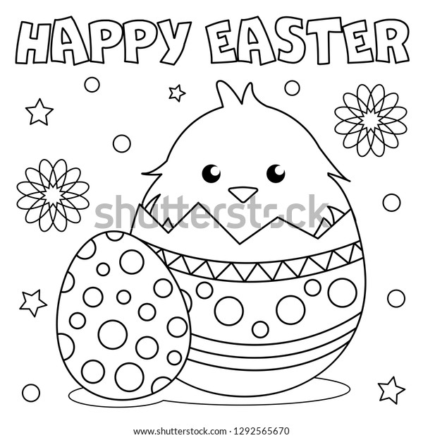 Free Printable Easter Egg Chick Coloring Pages - Simple Mom Project | 620x600