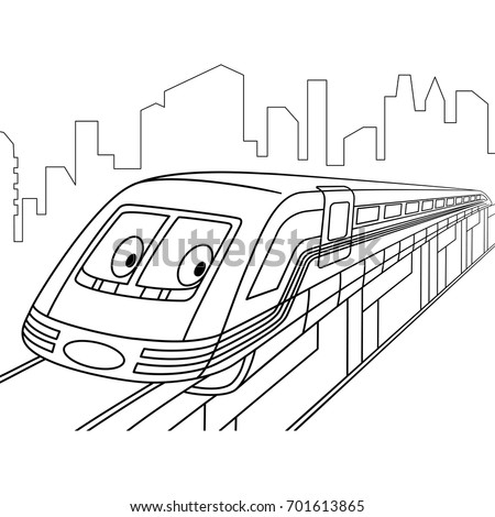 Coloring Page High Speed Electric Train Stock Vector (Royalty Free ...