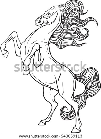 Coloring Page Horse Stock Vector Royalty Free 543059113 Shutterstock