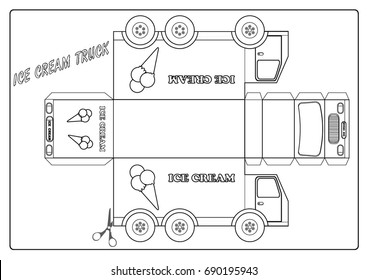 Coloring page - ice cream truck