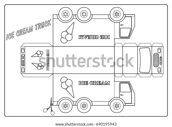 - Coloring Page Ice Cream Truck Stock Vector (Royalty Free) 690195943