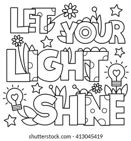 Adult Coloring Pages Words Images Stock Photos Vectors Shutterstock