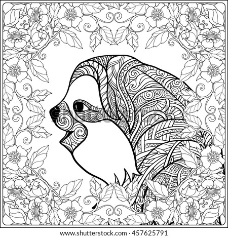 Coloring Page Lovely Sloth Forest Coloring Stock Vector Royalty