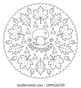 coloring page mandala kids autumn 260nw