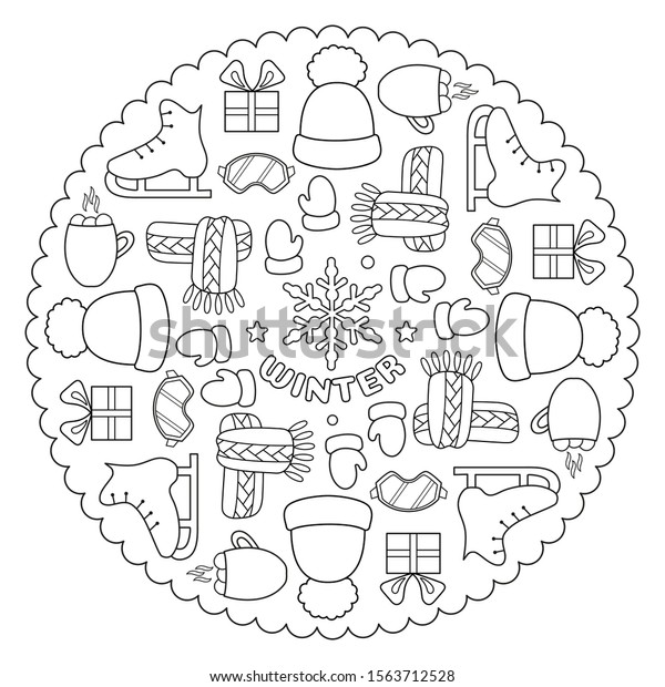 Winter Hat and Mittens Coloring Page Clothing - jeffersonclan | 620x600