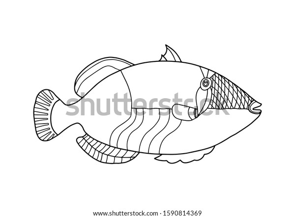Fish in the Ocean Coloring Page | Kindergarten coloring pages ... | 444x600