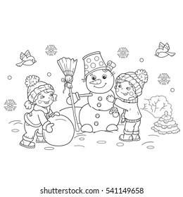 Kids Winter Gorseller Stok Fotograflar Ve Vektorler Shutterstock
