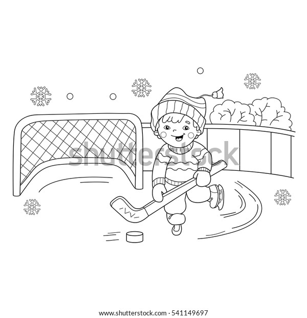 Ice hockey Winter sports color page, sports coloring pages, color ... | 620x600