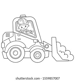 Bulldozer Colouring In - Bulldozer Printable Coloring Pages ...   280x260
