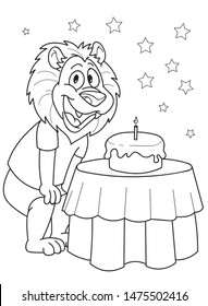 coloring page outline cartoon cute 260nw