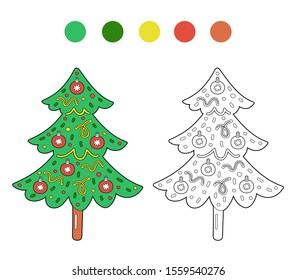 Simple Christmas Coloring Pages Images Stock Photos
