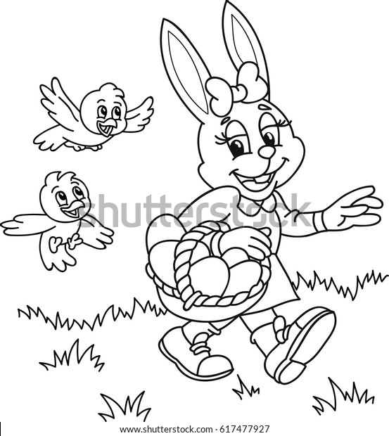 Zentangle Easter Bunny And Chick Stock Vector - Illustration of ... | 620x553