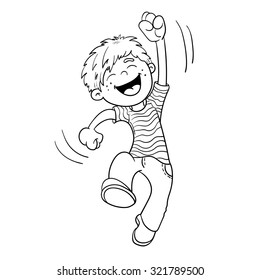 jump coloring pages for kids | Boy Jumping Images, Stock Photos & Vectors | Shutterstock