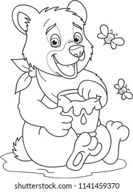 coloring page outline cartoon little 260nw