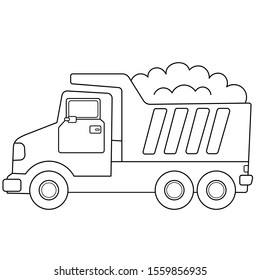 coloring page outline cartoon lorry 260nw
