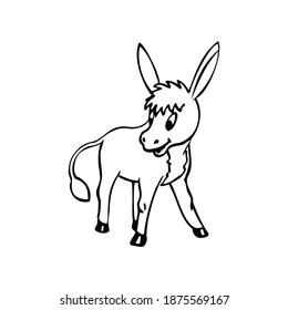 Coloring Page Outline of cartoon sheep. Coloring book for kids.